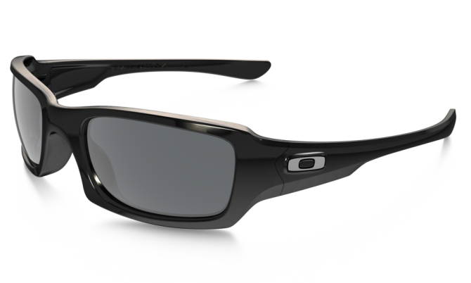 Oakley 0OO9238 FIVES SQUARED 9238-04 Polished Black / Gray
