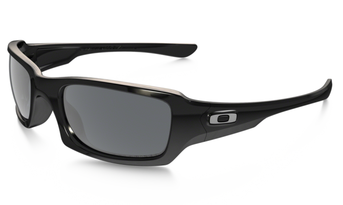 Oakley 0OO9238 FIVES SQUARED 9238-06 Polished Black / Black Iridium Polarized