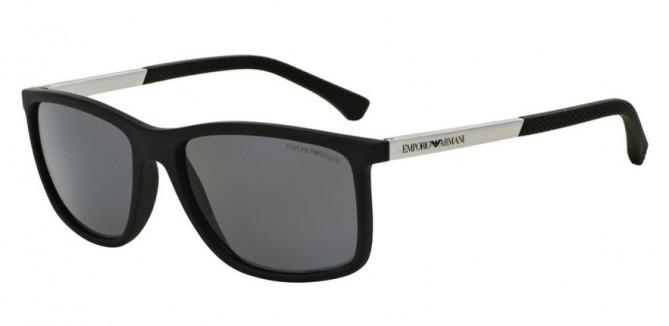 Emporio Armani 0EA4058 506381 Black Rubber - Grey Polarized