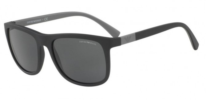 Emporio Armani 0EA4079 504287 Matte Black - Grey