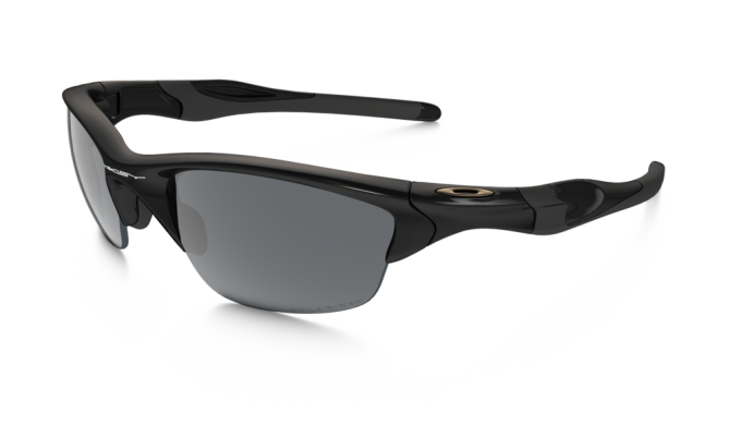 Oakley 0OO9144 HALF JACKET 2.0 9144-04 - Polished Black / Black Iridium Polarized