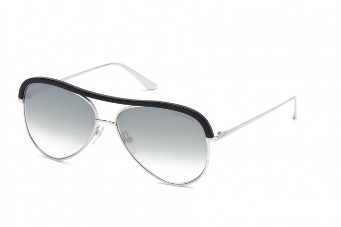 Tom Ford FT0606 SABINE-02  18B Black Silver - Grey Shaded