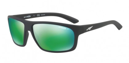 Arnette 0AN4225 BURNOUT 01/1I Matte Black - Dark Grey Mirror Green Polarized