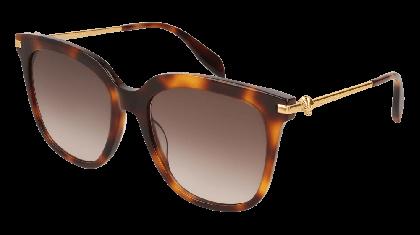 Alexander McQueen AM0107S-002 Havana Gold - Gradient Brown