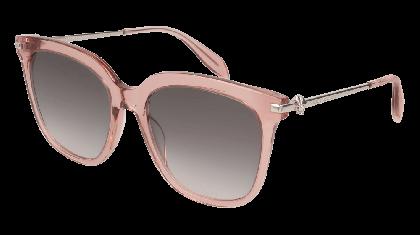 Alexander McQueen AM0107S-004 Transparent Pink Silver - Grey