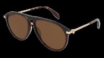 Alexander McQueen AM0134S-002 Havana Gold - Gradient Brown