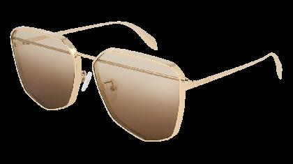 Alexander McQueen AM0136S-001 Gold - Light Brown