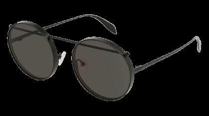 Alexander McQueen AM0137S-002 Matte Black - Grey