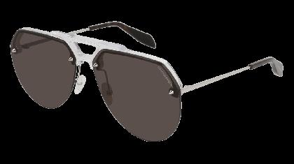 Alexander McQueen AM0139S-001 Crystal Silver - Gradient Grey