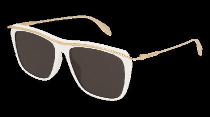 Alexander McQueen AM0143S-004 White Gold - Gold Grey