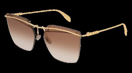 Alexander McQueen AM0144S-001 Gold - Gradient Brown