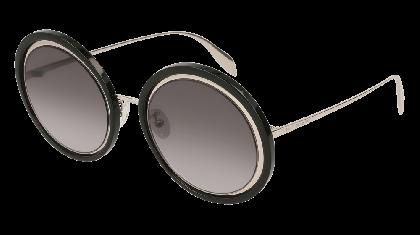 Alexander McQueen AM0150S-002 Silver - Black Grey
