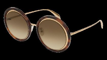 Alexander McQueen AM0150S-003 Gold - Havana Brown