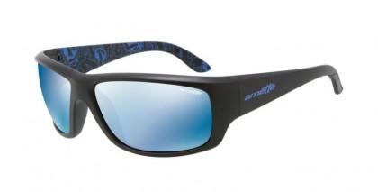 Arnette 0AN4166 CHEAT SHEET 211555 Matte Black - Blue Mirror