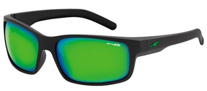 Arnette 0AN4202 FASTBALL 447/3R Fuzzy Black - Light Green Mirror Green