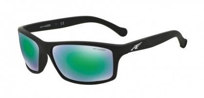 Arnette 0AN4207 BOILER 447/3R Fuzzy Black - Light Green Mirror Green