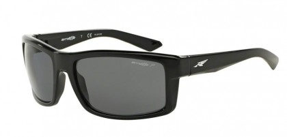 Arnette 0AN4216 CORNER MAN 41/81 Gloss Black - Dark Gray Polarized