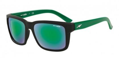 Arnette 0AN4218 SWINDLE 2334/3R Fuzzy Black Green - Light Green Mirror Green
