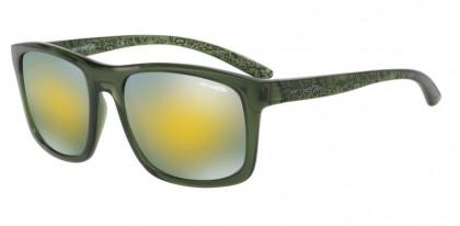 Arnette 0AN4233 COMPLEMENTARY 2476N0 Transparent Green - Mirror Green Gold