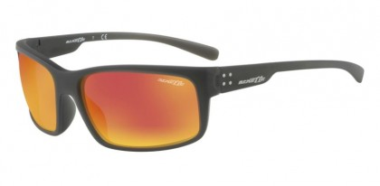 Arnette 0AN4242 FASTBALL 2.0 25606Q Matte Grey - Dark Grey Mirror Red Yellow