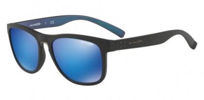 Arnette 0AN4252 WOKE 254725 Matte Black - Green Mirror Light Blue