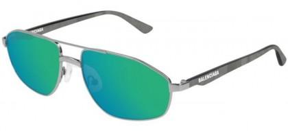 Balenciaga BB0012S-004 Silver Grey - Green