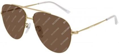 Balenciaga BB0013S-005 Gold - Brown