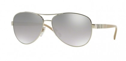 Burberry BE 3080 1005/6V - Silver / Grey Mirror Silver Shaded
