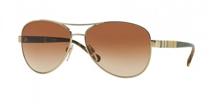 Burberry BE 3080 1145/13 - Gold / Brown Shaded