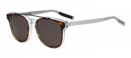 CHRISTIAN DIOR HOMME BLACKTIE211S LCQ (NR) Havana Crystal Matte Ruthenium - Brown Grey
