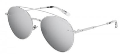 Bottega Veneta BV0258S-002 Silver - Shiny Silver