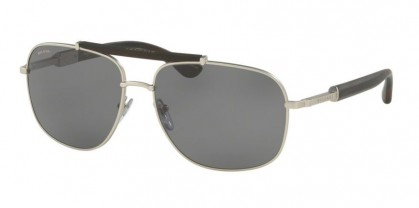 Bulgari 0BV5040K 2007/81 Matte Silver Plated - Gray Polarized