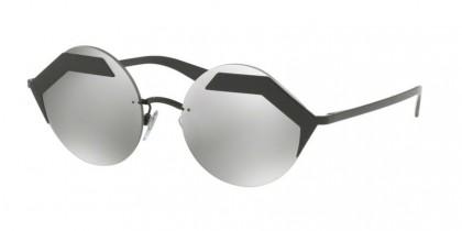 Bulgari 0BV6089 128/6G Black Matte Black - Light Grey Mirror Silver