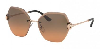 Bvlgari 0BV6105B 201418 Pink Gold - Orange Gradient Light Grey