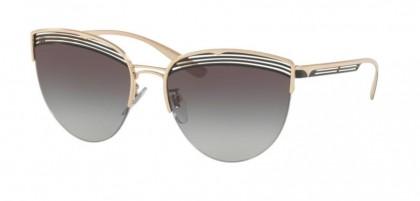 Bvlgari 0BV6118 20338G Pink Gold/Black - Grey Gradient