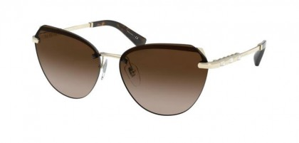 Bvlgari 0BV6129KB 2041T5 Pale Gold Plated - Polar Brown Gradient