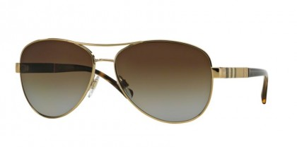 Burberry 0BE3080 1145T5 Light Gold - Brown Gradient Polarized