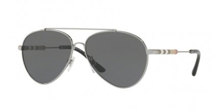 Burberry 0BE3092Q 100387 Gunmetal - Grey