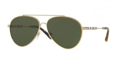 Burberry 0BE3092Q 114571 Light Gold - Green