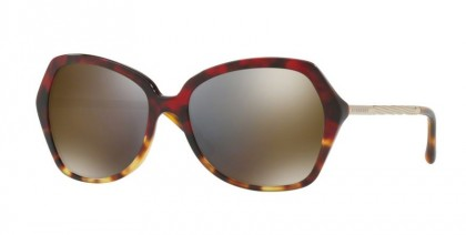 Burberry 0BE4193 36644T Red Havana Light Havana - Dark Grey Mirror Gold