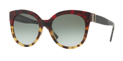 Burberry 0BE4243 36358E Red Havana Light Havana - Green Gradient