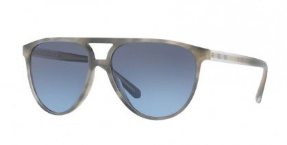 Burberry 0BE4254 36588F Striped Grey - Blue Gradient