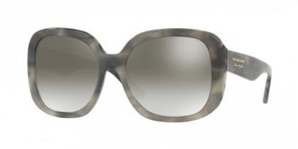 Burberry 0BE4259 36586I Striped Grey - Gradient Grey Mirror Silver
