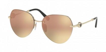 Bvlgari 0BV6108 20144Z Pink Gold - Grey Mirror Rose Gold