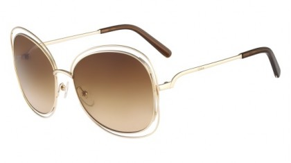 Chloé Carlina CE119S 786 Rose Gold Brown - Brown Shaded