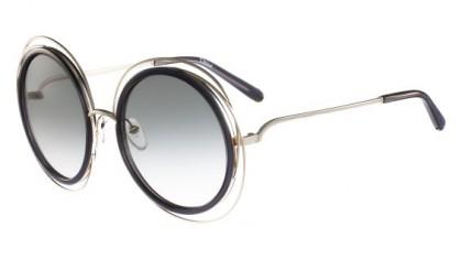 Chloé Carlina CE120S 731 Gold Transparent Grey - Grey Shaded