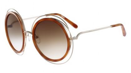 Chloé Carlina CE120S 736 Gold Blonde Havana - Brown Shaded
