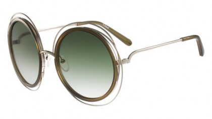 Chloé Carlina CE120S 750 Gold Khaki - Brown Olive Shaded