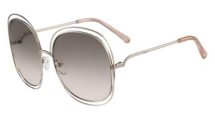 Chloé Carlina CE126S 724 Light Gold Transparent Peach - Brown Grey Shaded