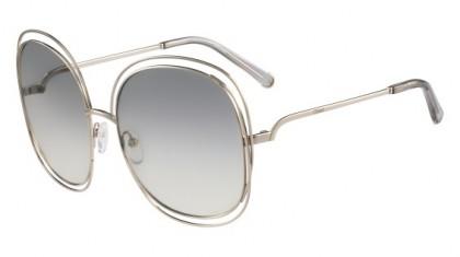 Chloé Carlina CE126S 734 Light Gold Transparent Light Grey - Light Grey Shaded